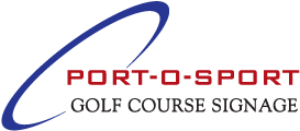 Port-O-Sport Golf Course Signage Logo