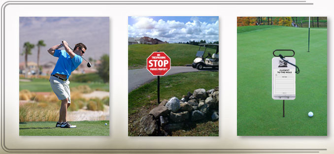 Examples of Golf Signs